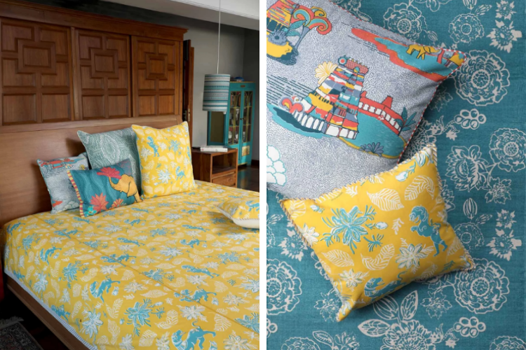 Ahnan Bedcovers and Cushions Inspired by Madurai