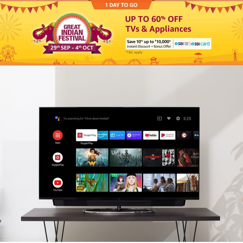 Amazon Great Indian Festival 2019 TV- hbf