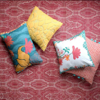 Bedcovers and Cushions Inspired by Madurai - hbf