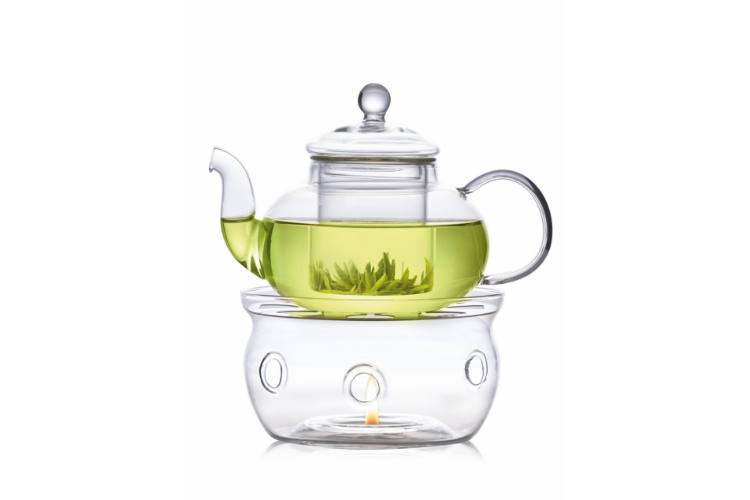 Illusion Teapot with Glass Infuser and Warmer - best teapots