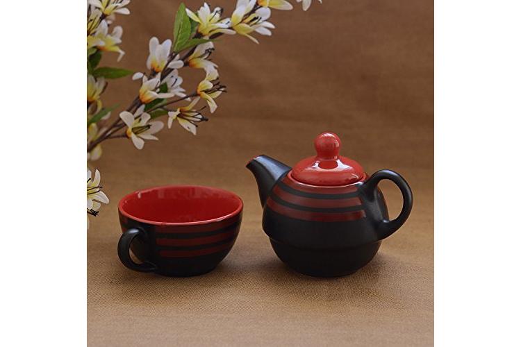 Unravel India Ceramic Single Tea Pot Set - best teapots