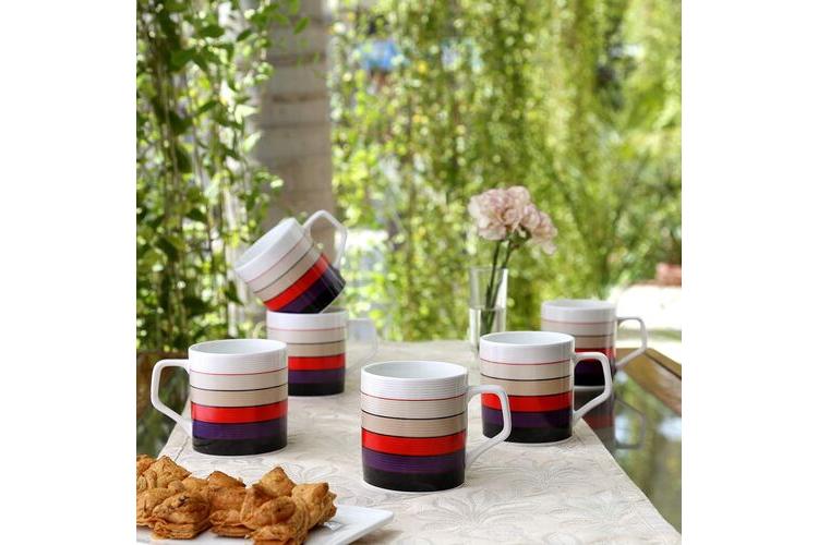 colourful cookware - Bone China Coffee Mug Set