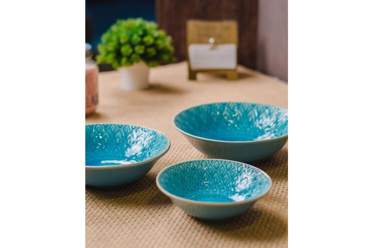 colourful cookware - GOODHOMES Serving Bowl Set