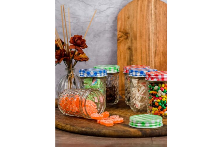 colourful cookware - Jam & Honey Glass Jar Set