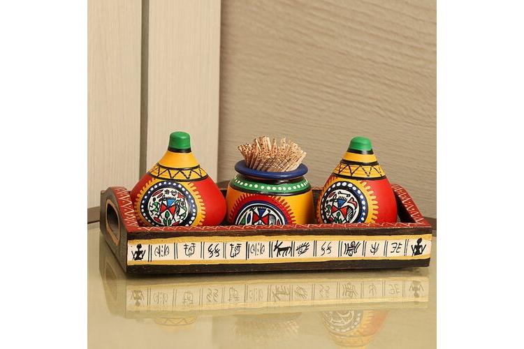 colourful cookware -Warli Matki Kitchen Set