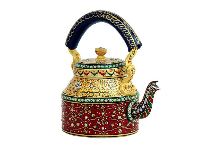 iHandikart Hand Painted Tea Pot - best teapots