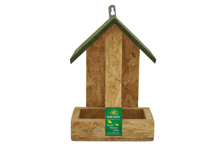 Nature Forever Hut Wooden Feeder